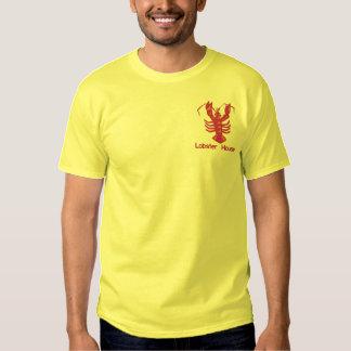 Gestickter Hummer mit kundenspezifischem Text Besticktes T-Shirt