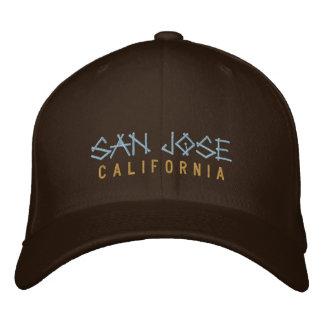 Gestickter Hut San Jose Kalifornien auf Braun