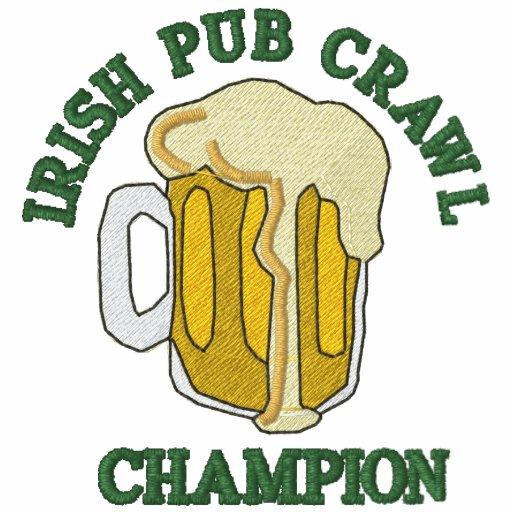 Gestickter irischer Pub-Schleichen-Meister-T - Shi