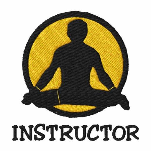 Gesticktes das Polo-Shirt der Yoga-Lehrer-Männer