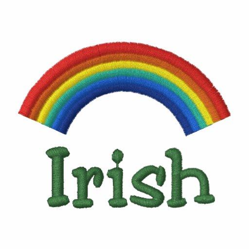 Gesticktes irisches Regenbogen-Polo-Shirt