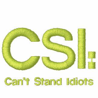 Gesticktes Polo-Shirt CSI: Kann Idioten nicht steh