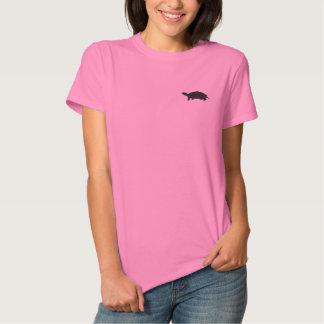 Gesticktes Schildkröte-Frauen-Polo Besticktes T-Shirt