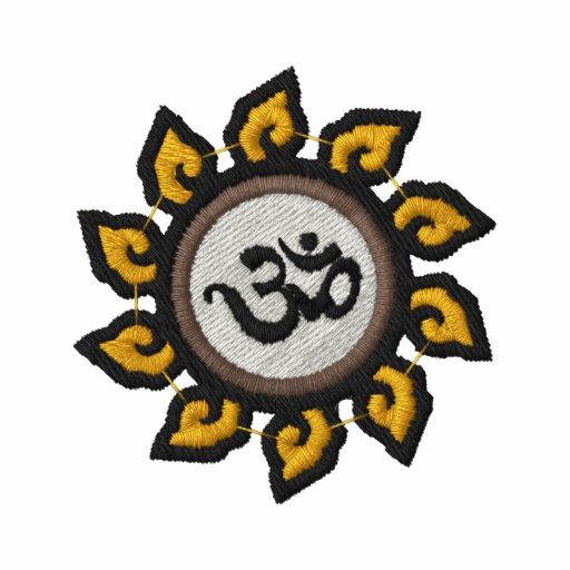 Gesticktes Shirt Yoga-OM Symbol