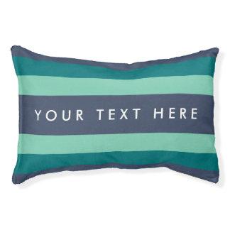 Gestreifte aquamarine u. blaue Gewohnheit Haustierbett
