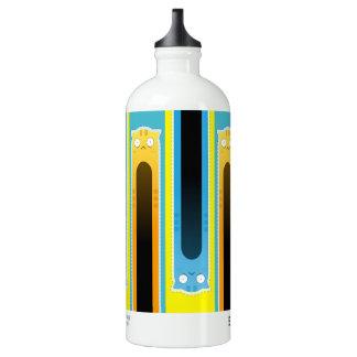 Gestreifte Flasche des Reisenden Wassers der