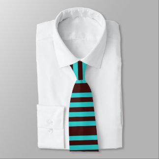 Gestreifte Krawatte Browns und des Aqua