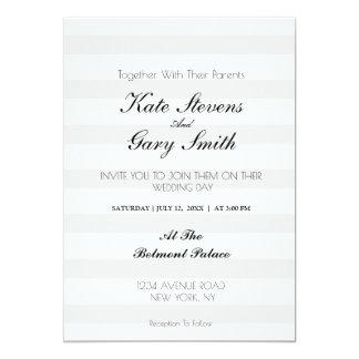 Gestreifte Monogramm-Hochzeits-Einladung Karte