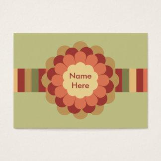 Gestreifter Band-u. Blumen-Bogen Jumbo-Visitenkarten