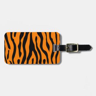 Gestreifter Gepäckanhänger des Tigers - Nennen