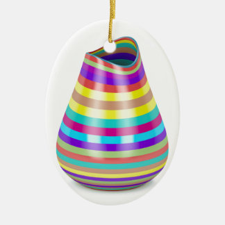 Gestreifter Vase Keramik Ornament