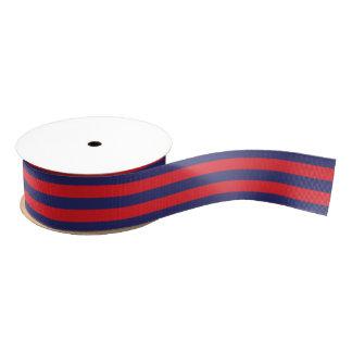 Gestreiftes | Marine-Blau u. Rot | irgendeine Ripsband