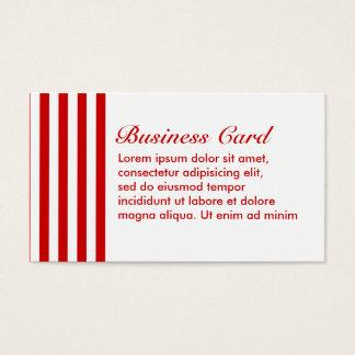 Gestreiftes Rot + Kundenspezifische Farbe Visitenkarte