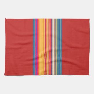 Gestreiftes/rotes Mehrfarbenmuster Handtuch