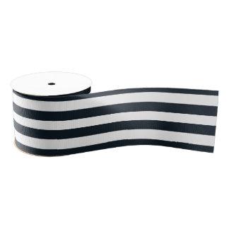 Gestreiftes (schwarz u. Weiß) kundengerechtes Ripsband