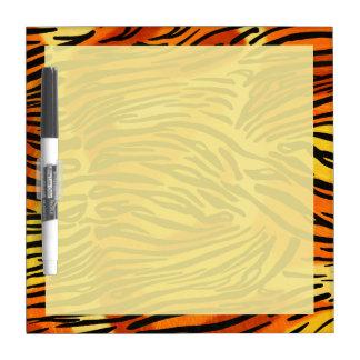 Gestreiftes Tiger-Pelz-Druck-Muster Trockenlöschtafel
