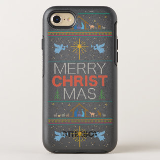 Gestrickte christliche frohe OtterBox symmetry iPhone 8/7 hülle