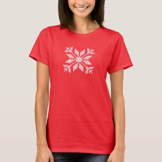 Gestrickte Schneeflocke T-Shirt