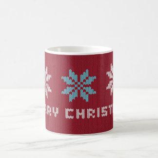 Gestrickte Weihnachtsstrickjacke-inspirierte Tasse