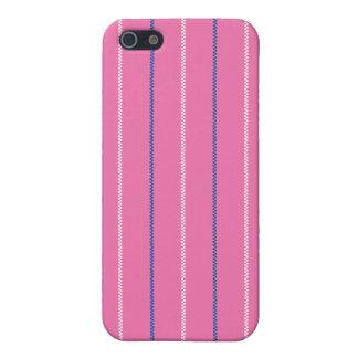 Gestrickter | rosa blauer weißer Muster-Entwurf iPhone 5 Etui