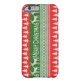 "Gestricktes Muster ""der frohen Weihnachten"" Barely There iPhone 6 Hülle"