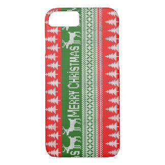 """Gestricktes Muster """"der frohen Weihnachten"""" iPhone 7 Hülle"""