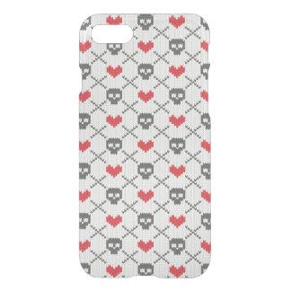 Gestricktes Muster mit den Schädeln iPhone 8/7 Hülle