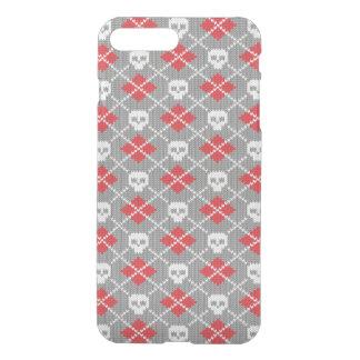 Gestricktes Muster mit den Schädeln iPhone 8 Plus/7 Plus Hülle