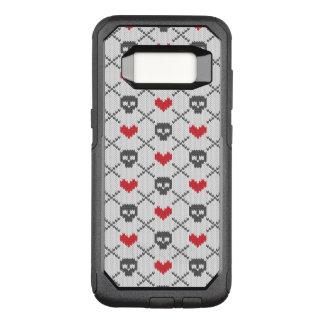 Gestricktes Muster mit den Schädeln OtterBox Commuter Samsung Galaxy S8 Hülle