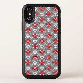 Gestricktes Muster mit den Schädeln OtterBox Symmetry iPhone X Hülle