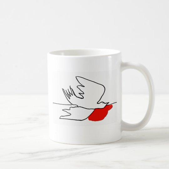 gestürzte Taube Kaffeetasse
