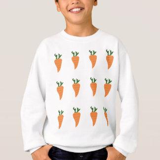 Gesunder Nahrungsmittelkarotten-Cartoon-Druck Sweatshirt