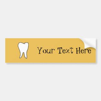 Gesunder weißer Zahn Autoaufkleber