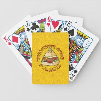 Gesündere Ernährungspyramide Bicycle Spielkarten