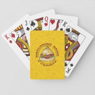 Gesündere Ernährungspyramide Spielkarten