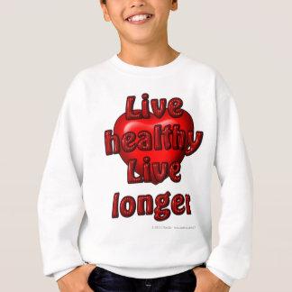 Gesundes lebhaftlebhaftlängeres sweatshirt