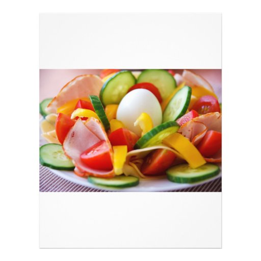 Gesundes veganes Frühstück Custom Flyer