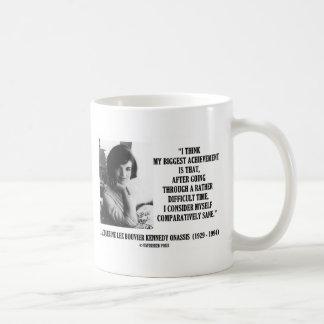 Gesundes Zitat Jacqueline Kennedy verhältnismässig Kaffeetasse