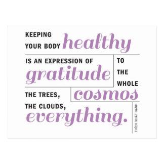 Gesundheit ist Dankbarkeit Postkarte