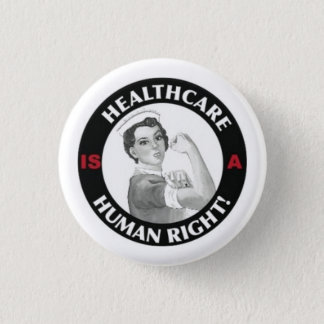 Gesundheitswesen ist ein menschlicher rechter runder button 3,2 cm