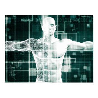 Gesundheitswesen-Technologie und medizinischer Postkarte