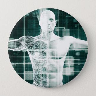 Gesundheitswesen-Technologie und medizinischer Runder Button 10,2 Cm