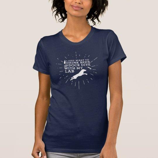 Getränk-Bier-und Dock-Tauchen T-Shirt