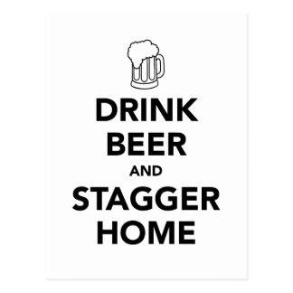 Getränk-Bier und schwanken Zuhause Postkarte