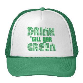 Getränk 'bis YER-Grün Tuckercaps
