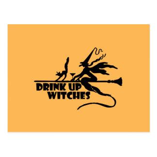 Getränk herauf Hexen Postkarte