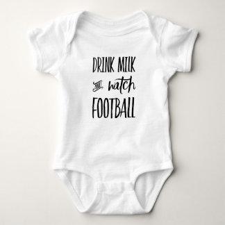 Getränk-Milch-und Uhr-Fußball Baby Strampler