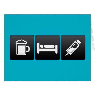 Getränk, Schlaf und Anästhesie Karte