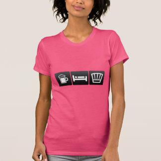Getränk, Schlaf und Kochs-Abnutzung T-Shirt