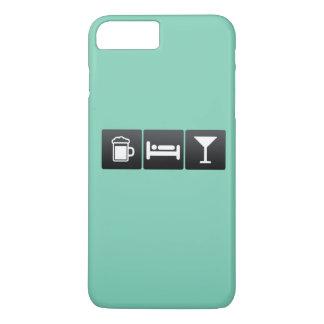 Getränk, Schlaf und trinkende Cocktails iPhone 8 Plus/7 Plus Hülle